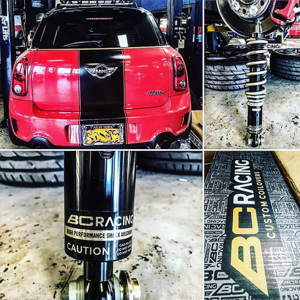 Mini Cooper with BC Racing Custom Coilovers